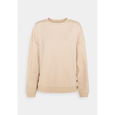 フォーエバー ニュー パーカー・スウェットシャツ レディース アウター RAGLAN CREW NECK JUMPER - Sweatshirt - soft tan