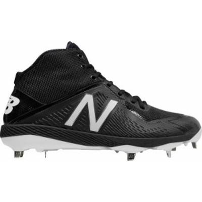 ニューバランス メンズ スニーカー シューズ New Balance Men's 4040 V4 Mid Metal Baseball Cleats Black/Black