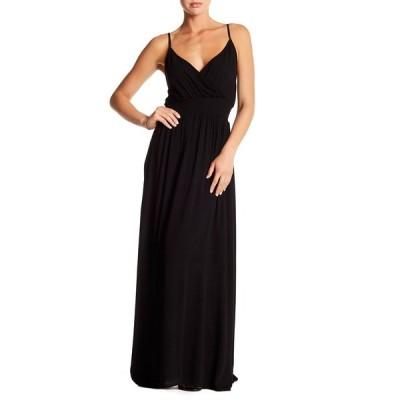 ウエスト ケイ レディース ワンピース トップス Solid Sleeveless Gauze Maxi Dress BLACK