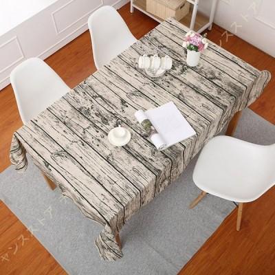 テーブルクロス 北欧 おしゃれ 綿麻 撥水加工 テーブルカバー テーブルマット 防塵 耐熱 滑り止め 洗える インテリア 多用途 贈り物 テーブル保護カバー