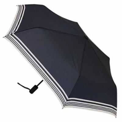 東急ハンズ ■hands+ 調節式自動開閉折傘 50cm Bボーダーネイビー