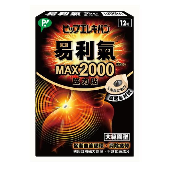 易利氣MAX 2000磁力貼12入