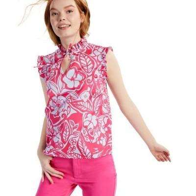 チャータークラブ カットソー トップス レディース Petite Floral-Print Top, Created for Macy's Pink Lightening Combo