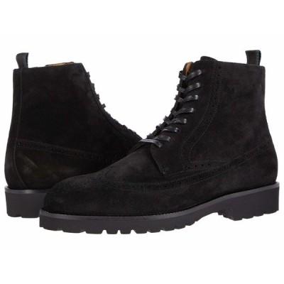 ヒューゴボス ブーツ&レインブーツ シューズ メンズ Brogue Detail Suede Lace-Up Boot Black