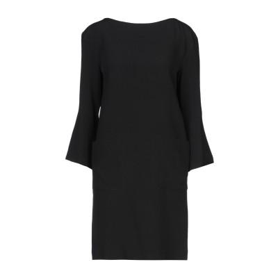 レ コパン LES COPAINS ミニワンピース&ドレス ブラック 40 アセテート 71% / レーヨン 29% ミニワンピース&ドレス