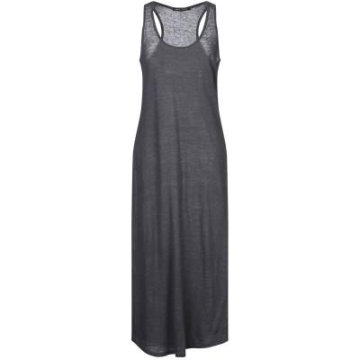 NEVER ENOUGH 7分丈ワンピース・ドレス 鉛色 S リネン 100% 7分丈ワンピース・ドレス
