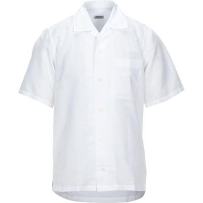 ケンゾー KENZO メンズ シャツ トップス linen shirt White