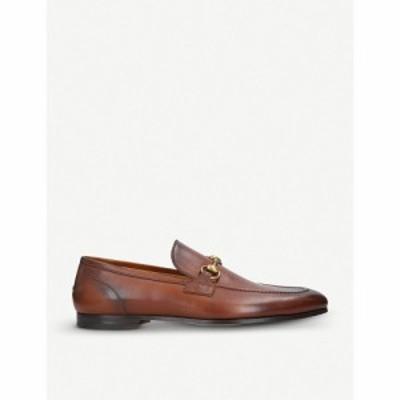 グッチ GUCCI メンズ ローファー シューズ・靴 Jordan horsebit-detail leather loafers Tan