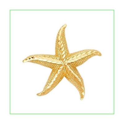 14K Yellow Gold Starfish Pendant 並行輸入品