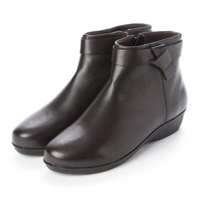 カルロロセッティ CARLO ROSSETTI: 使い勝手の良いアンクル丈ブーツ CR23854 (ダークブラウン)