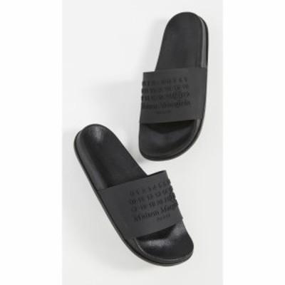 メゾン マルジェラ Maison Margiela メンズ サンダル シューズ・靴 Letter Pool Slides Black