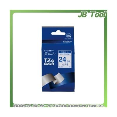 ブラザー ピータッチテープ24mm白/青 TZE-253