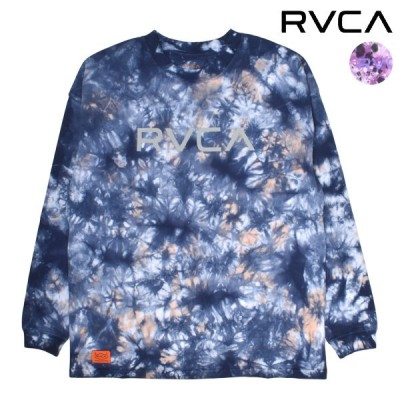 RVCA ルーカ TIEDYE BIGRVCA タイダイビッグルーカ BB043-050 レディース 長袖 Tシャツ トップス ロンT タイダイ柄 オーバーサイズ II1 A15