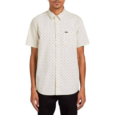 ボルコム Volcom メンズ 半袖シャツ トップス Hallock Short - Sleeve Button - Down Shirt White Flash