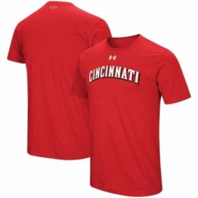 Under Armour アンダー アーマー スポーツ用品  Under Armour Cincinnati Reds Red Wordmark Core Performance T-Shirt