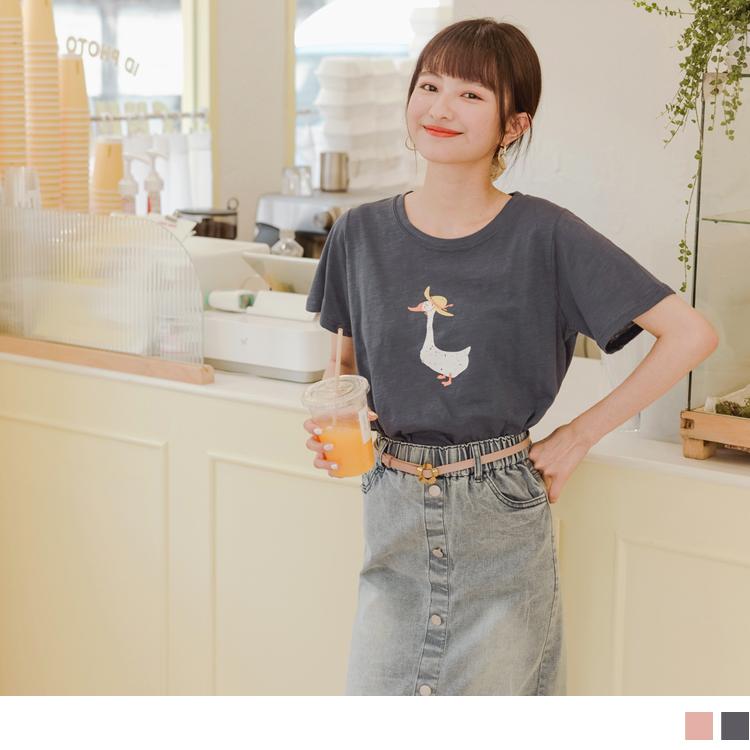 台灣製造 高含棉野餐小鴨T恤/上衣