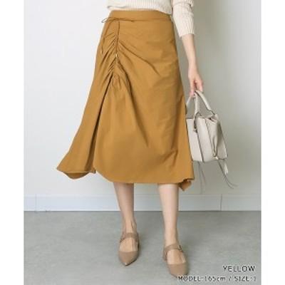 ランダ(RANDA)/<20春夏新作>ドローストリングシャーリングスカート