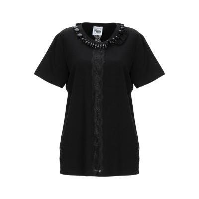 MY TWIN TWINSET T シャツ ブラック M コットン 95% / ポリウレタン 5% / ポリエステル T シャツ