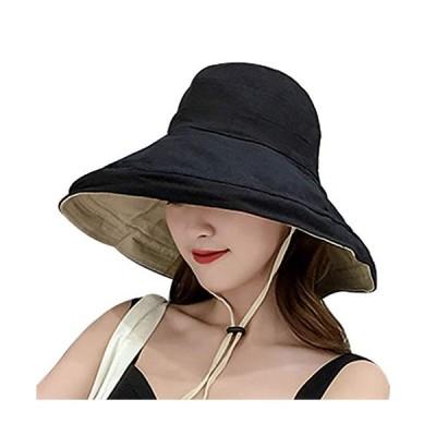 UVカット - HAMISTレディースハット 帽子 ハット レディース 日よけ帽子 uv帽 つば広 ハット 女優帽 紫外線対策 熱中症予防