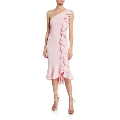ライクリー レディース ワンピース トップス Linette One-Shoulder Ruffle Cocktail Dress