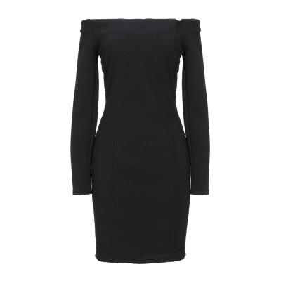 MANGANO ミニワンピース&ドレス ブラック L コットン 95% / ポリウレタン 5% ミニワンピース&ドレス
