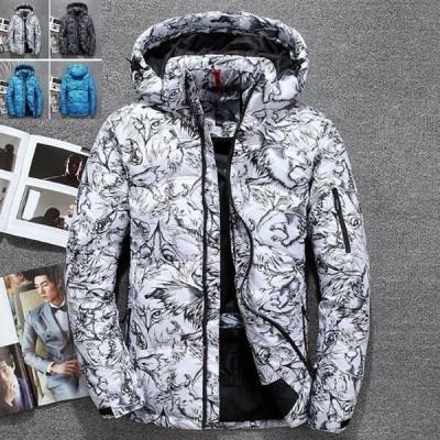ダウンジャケット メンズ 冬 コート 防風 スキートレンド 個性 防寒 マウンテンパーカ アウトドア 厚手フード付き