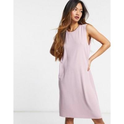 モンキ レディース ワンピース トップス Monki sleeveless midi dress in pink