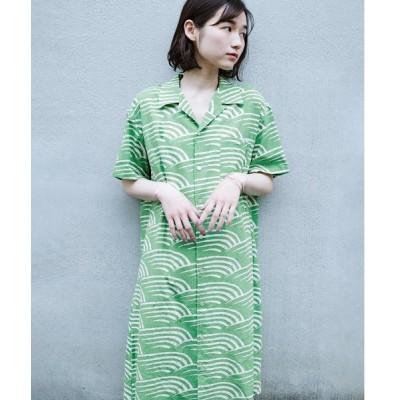 【ハコ】【mer8月号掲載】京都の浴衣屋さんと作った浴衣生地のシャツワンピース
