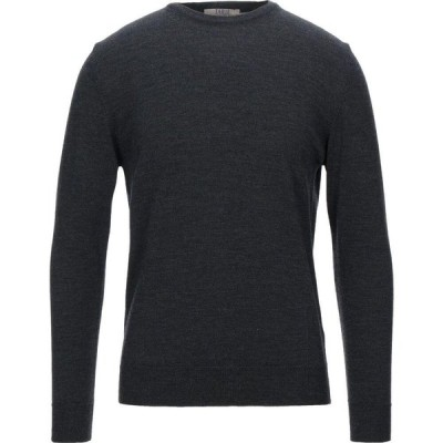 TSD12 メンズ ニット・セーター トップス sweater Steel grey