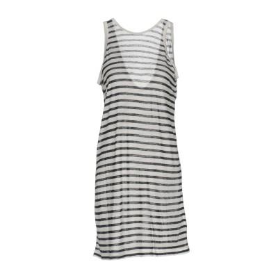 ALEXANDERWANG.T ミニワンピース&ドレス ホワイト XS 86% レーヨン 14% 麻 ミニワンピース&ドレス