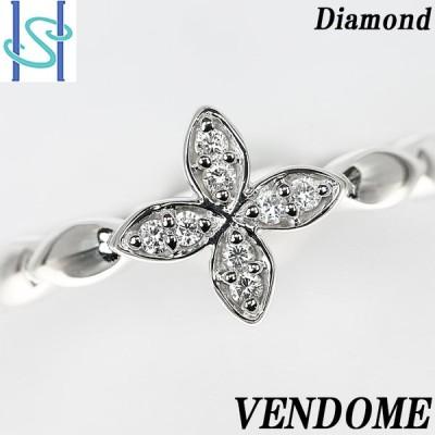 【SH54523】ヴァンドーム青山 ダイヤモンド リング プラチナ950 花 フラワー【中古】