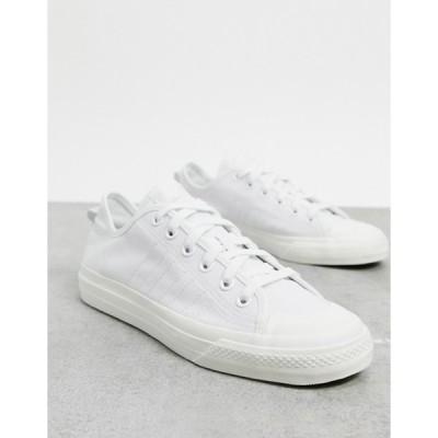 アディダス メンズ スニーカー シューズ adidas Originals Nizza RF sneakers in white