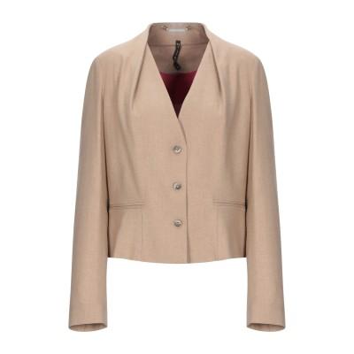マニラ グレース MANILA GRACE テーラードジャケット サンド 38 レーヨン 55% / ウール 32% / ポリエステル 11% /