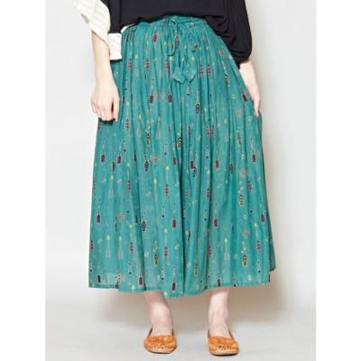 【チャイハネ】yul アローロングスカート グリーン