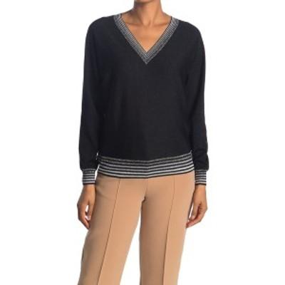 トリーナターク レディース ニット&セーター アウター Antiquity Stripe V-Neck Sweater BLACK