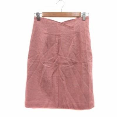 【中古】プロポーション ボディドレッシング PROPORTION BODY DRESSING タイトスカート ひざ丈 ウール 3 ピンク
