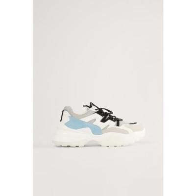 エヌエーケイディー レディース 靴 シューズ CHUNKY TRAINERS - Trainers - white/blue