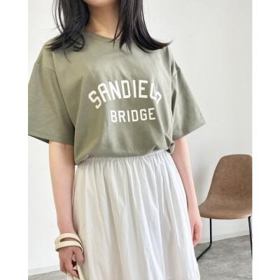 エムリア MLI'A ラウンドカレッジロゴTシャツ (カーキ)