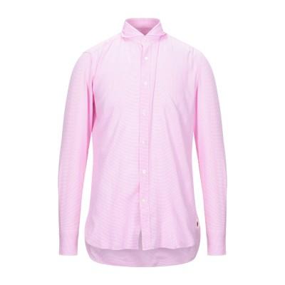 GUGLIELMINOTTI シャツ ピンク 40 コットン 100% シャツ