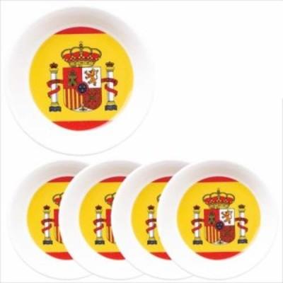 取寄品 国旗 小皿 5個セット フラッグカフェ プチプレート スペイン SPAIN 日本製誕生日ギフト雑貨通販