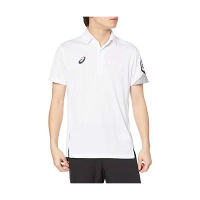 [アシックス] トレーニングウエア LIMOドライコンフォートポロシャツ 2031C196 メンズ 100(ブリリアントホワイト) 日本 2XL (日本サイズ3L相当)