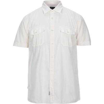 ブラウアー BLAUER メンズ シャツ トップス solid color shirt Ivory