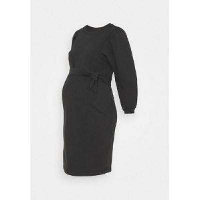 ピーシーズ マタニティ レディース ワンピース トップス PCMGAHOA DRESS - Jersey dress - black/over dyed black/over dyed
