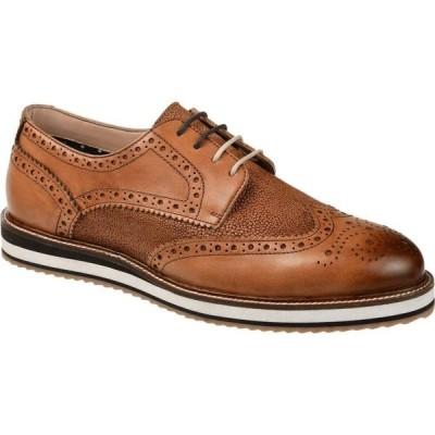トーマスアンドバイン Thomas & Vine メンズ シューズ・靴 ウイングチップ ダービーシューズ Conrad Wing Tip Derby Tan