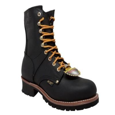 アドテック メンズ ブーツ・レインブーツ シューズ Men's 9 Steel Toe Logger Boot