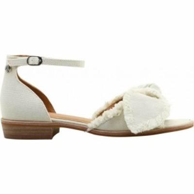 ビル ブラス Bill Blass レディース サンダル・ミュール アンクルストラップ シューズ・靴 Maddy Ankle Strap Sandal White Canvas