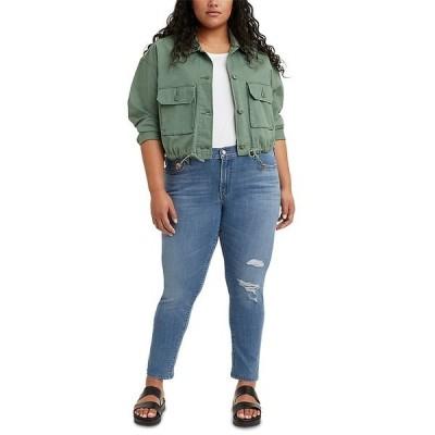リーバイス デニムパンツ ボトムス レディース Trendy Plus Size  711 Ripped Skinny Jeans Lapis Joy