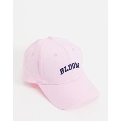 エイソス レディース 帽子 アクセサリー ASOS DESIGN baseball cap with 'Bloom' slogan in pink
