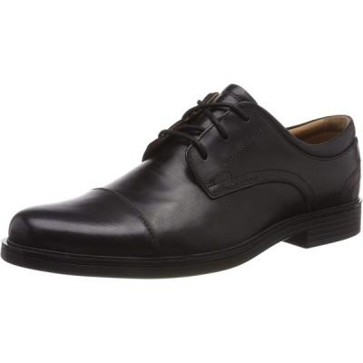 [クラークス] ビジネスシューズ 革靴 アンアルドリックキャップ 本革 メンズ ブラックレザー 24 cm