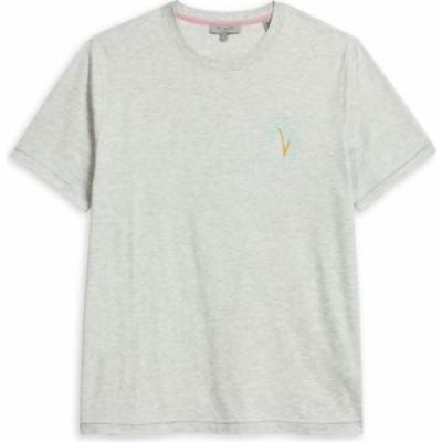 テッドベーカー Ted Baker メンズ Tシャツ トップス Madras Palm Tree T Shirt GREY MARL